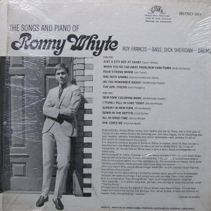 WHYTE, RONNY - BAND BOX 1015 - SONGS & PIANO 4
