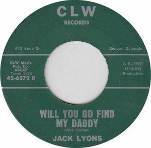 CLW 6572 - LYONS JACK - ADD B