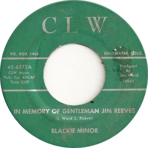 CLW 6572 - Minor, Blackie - Gentleman Jim Reeves