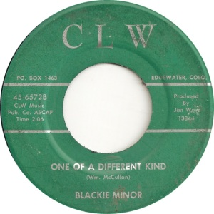 CLW 6572 - Minor, Blackie - One of a Different Kind