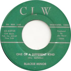 CLW 6573 - Minor, Blackie - One of a Different Kind