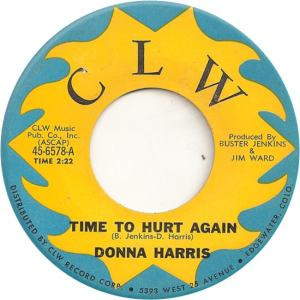 CLW 6578 - Harris, Donna - Time to Hurt Again