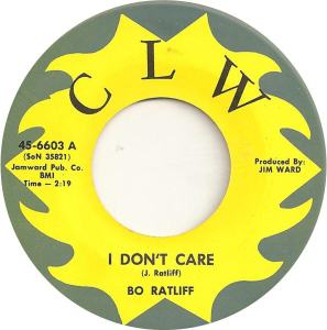 CLW 6603 - Ratliff, Bo - I Don't Care