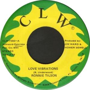 CLW 7582 - Tilson, Ronnie - Love Vibrations R