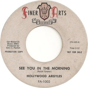 Finer Arts 1002 DJ - Hollywood Argyles - See You in the Morning