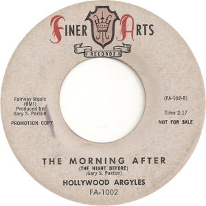 Finer Arts 1002 DJ - Hollywood Argyles - The Morning After