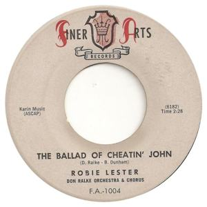 Finer Arts 1004 - Lester, Robie - The Ballad of Cheatin John