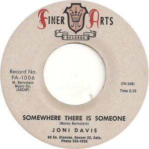 Finer Arts 1006 - Davis, Joni - Somewhere There is Someone