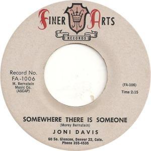 Finer Arts 1006 - Davis, Joni - Somewhere There is Someone