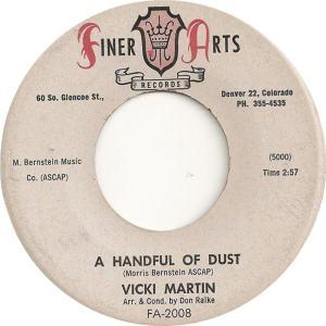 Finer Arts 2008 - Martin, Vicki - A Handful of Dust