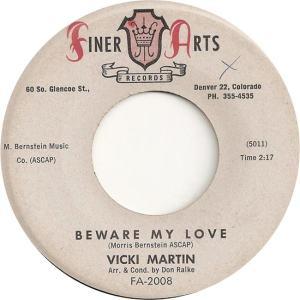 Finer Arts 2008 - Martin, Vicki - Beware My Love