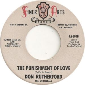 Finer Arts 2010 - Rutherford, Don & Emotionals -- The Punishment of Love