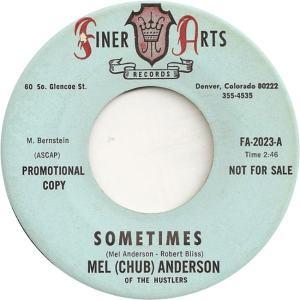 Finer Arts 2023 DJ - Anderson, Mel - Sometimes