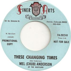 Finer Arts 2023 DJ - Anderson, Mel - These Changing Times