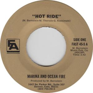 FINER ARTS 45-5 - MARINA & OCEAN FIRE A