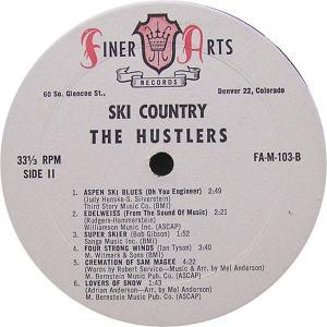 Hustlers - Finer Arts LP 103 - Hustlers Ski Country SD 1 (2)