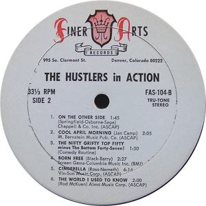 Hustlers - Finer Arts LP 104 - Hustlers In Action SD 2