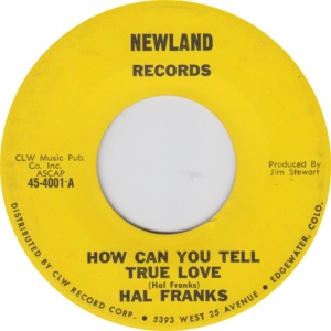 Newland 4001 - Franks, Hal - How can
