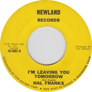 Newland 4001 - Franks, Hal - leaving