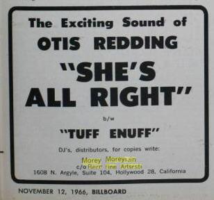 OTIS REDDING AD 11-66