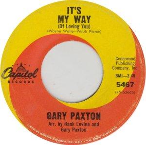 PAXTON GARY - CAPITOL 5467 ADD