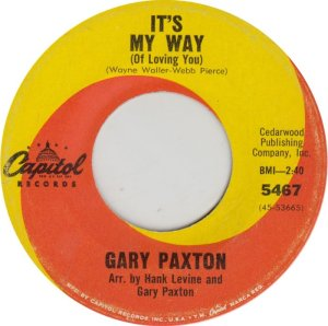 PAXTON GARY - CAPITOL 5467 ADD