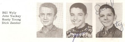 Rusty Young - Rishel Jr High - Denver 1961 - 9th Grade