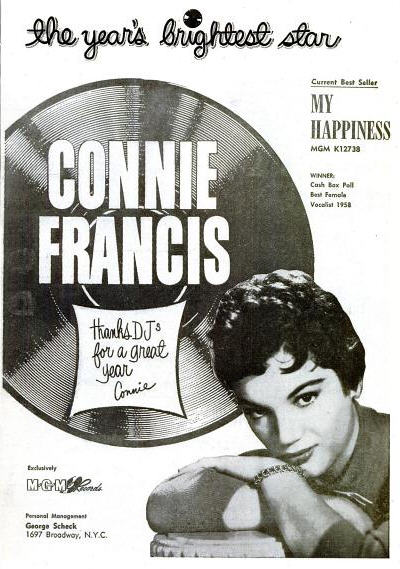 Connie Francis - December 1958