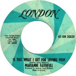 1967: U.S. Bubbling Under #125 U.K #43