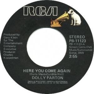 1977: U.S. Charts Hot 100 #3 C&W #1 U.K. #75