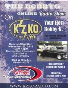 BOBBY G RADIO SHOW DENVER