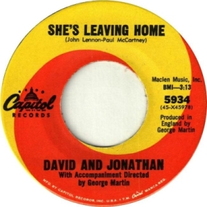 David & Jonathan - Capitol 5934 - She's Leaving Home