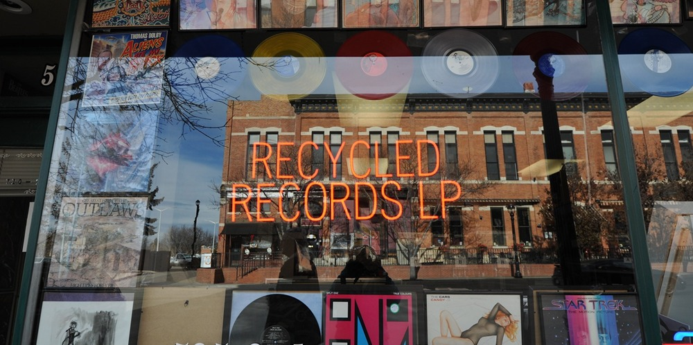 RECORD STORE - LONGMONT - RECYCLED RECORDS LP
