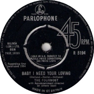 1964 - fourmost - baby I - 24 UK
