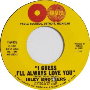 1966 - Isleys - I guess - 61 rb 31 uk 45