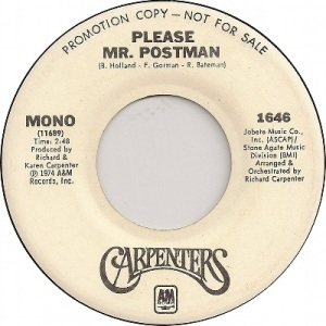 1974 - carpenters - postman - 1 uk 2