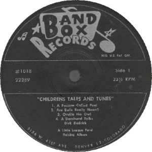 Band Box LP 1018 - Dedrick, Dick - Children's Tales 1