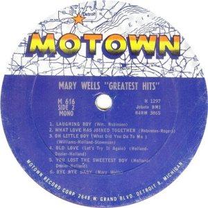 MOTOWN 616 - WELLS - RB