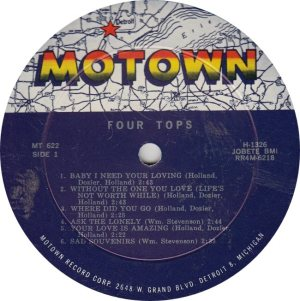 MOTOWN 622 - 4 TOPS - R