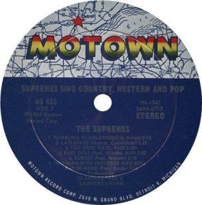 MOTOWN 625 - SUPREMES - B