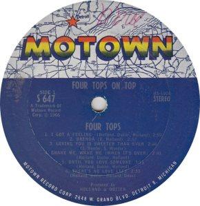 MOTOWN 647 - 4 TOPS R