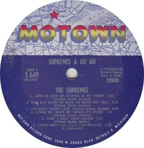 MOTOWN 649 - SUPREMES R