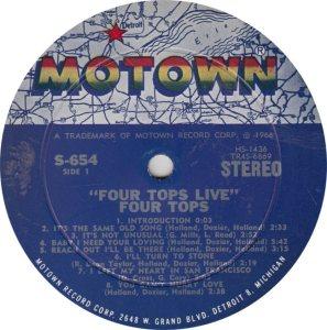 MOTOWN 654 - 4 TOPS R