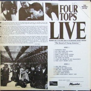MOTOWN 654 - FOUR TOPS - BC