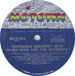 MOTOWN 663 - SUPREMES R