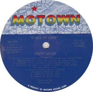 MOTOWN 686 - SOUPY SIDE ONE ONLY MIS L