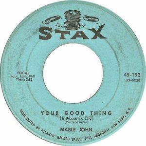 66 - john, mable - your good - 95 rb 6
