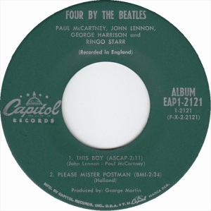 Beatles - Capitol 2121 EPB - Four By the Beatles