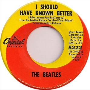 Beatles - Capitol 5222 - I Should Have Known Better
