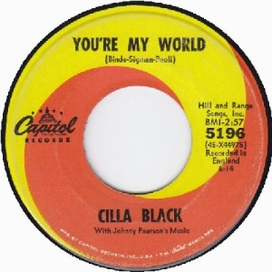 Black, Cilla - Capitol 5196 - You're My World